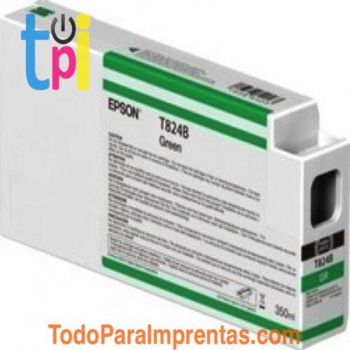 Tinta Epson C13T824B00 Verde 350 ml.