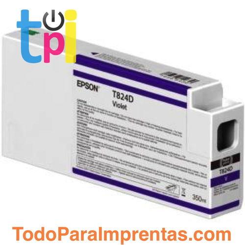 Tinta Epson C13T824C00 Violeta 350 ml.