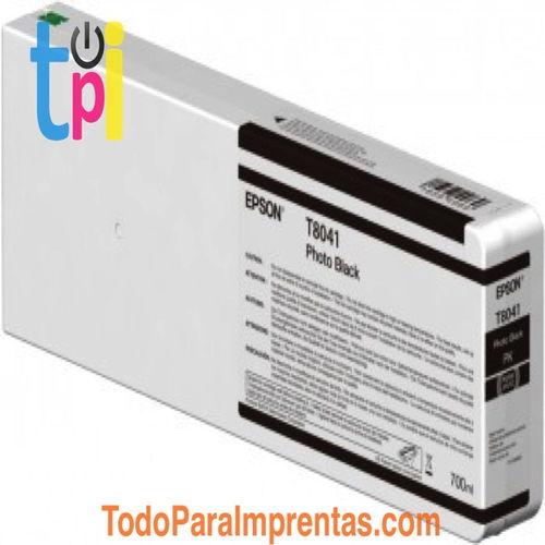 Tinta Epson C13T804100 Negro 700 ml.