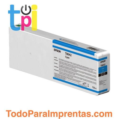 Tinta Epson C13T804200 Cian 700 ml.