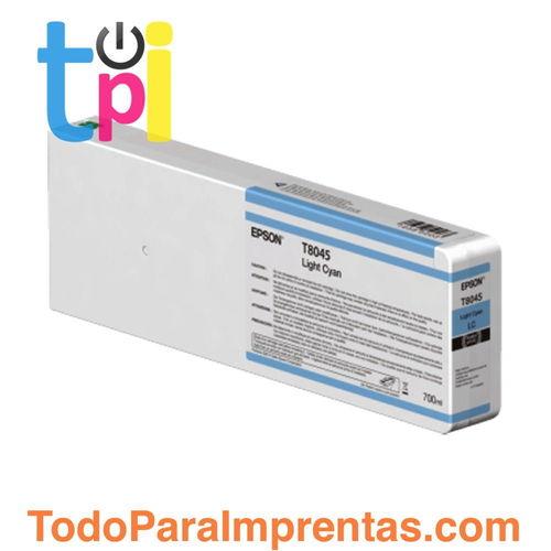Tinta Epson C13T804500 Cian Claro 700 ml.
