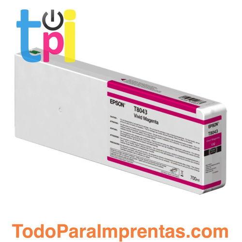 Tinta Epson C13T804300 Magenta 700 ml.