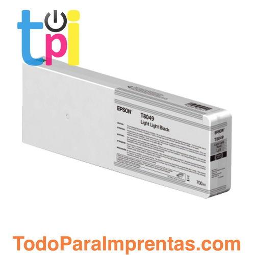 Tinta Epson C13T804900 Gris Claro 700 ml.