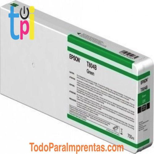 Tinta Epson C13T804B00 Verde 700 ml.