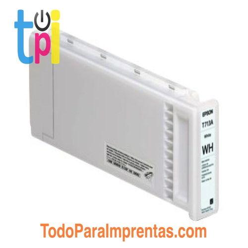 Tinta Epson C13T713A00 Blanco 600 ml.