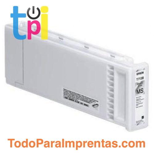 Tinta Epson C13T713B00 Plata Metálico 350 ml.