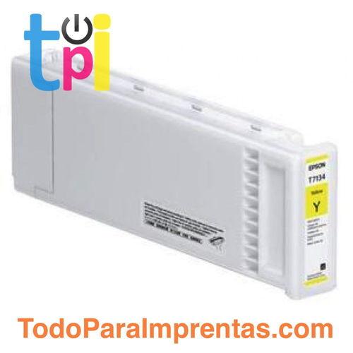 Tinta Epson C13T713400 Amarillo 700 ml.