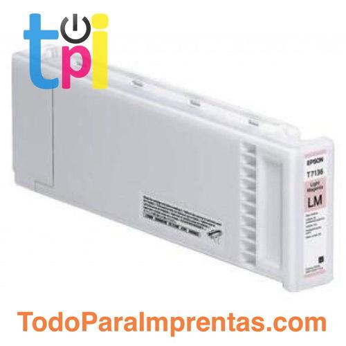 Tinta Epson C13T713600 Magenta Claro 700 ml.