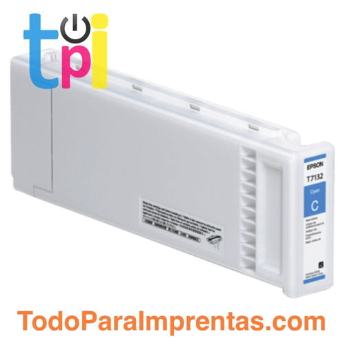 Tinta Epson C13T713200 Cian 700 ml.