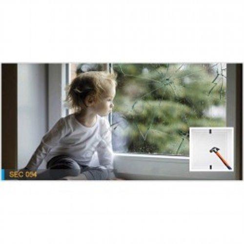 Lamina de seguridad Reflectiv - SEC 054X - 1520mm x 10m Transparente Exterior
