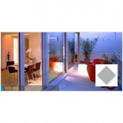 Lamina proteccion solar Reflectiv - SOL 332 - 79% - 1520mm x 10m Metalizado gris . Interior