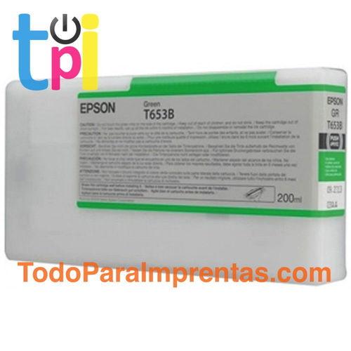 Tinta Epson T913B00 Verde 200 ml.