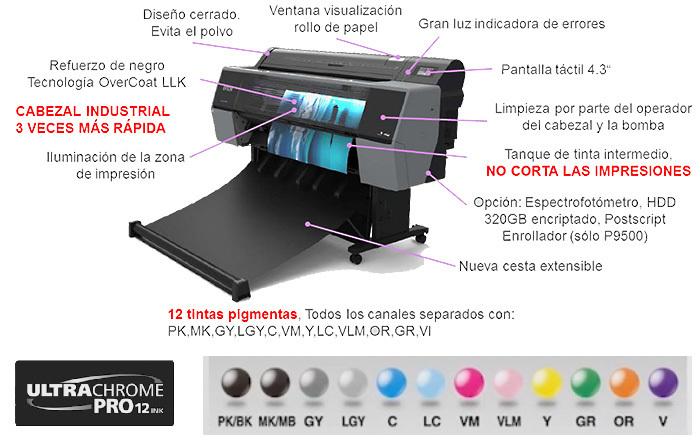 Plotter Epson SureColor SC-P7500 SpectroProofer + Rollo GRATIS